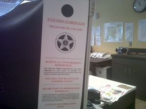 Eviction Sheriff  Notice